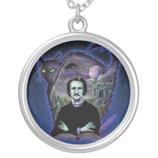 Edgar Allan Poe Gothic Silver Plated Necklace