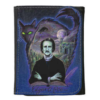Edgar Allan Poe Gothic Leather Trifold Wallets