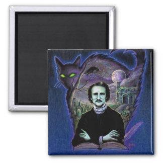 Edgar Allan Poe gótico Imán De Nevera