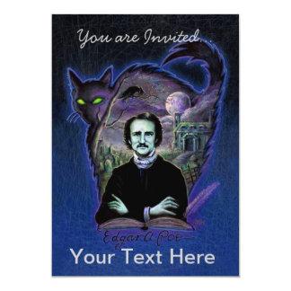 """Edgar Allan Poe gótico Invitación 5"""" X 7"""""""