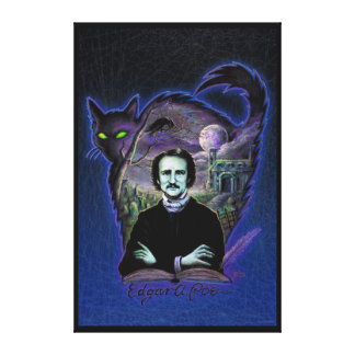 Edgar Allan Poe gótico Impresión En Lienzo Estirada
