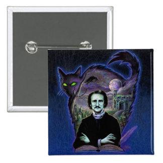 Edgar Allan Poe gótico Pin Cuadrado