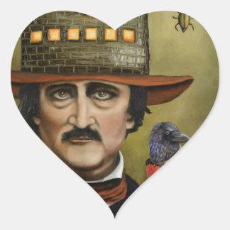 Edgar Allan Poe Heart Sticker