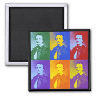 Edgar Allan Poe Imán Cuadrado