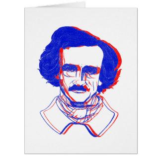 Edgar Allan Poe in 3D Card