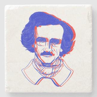 Edgar Allan Poe in 3D Stone Coaster
