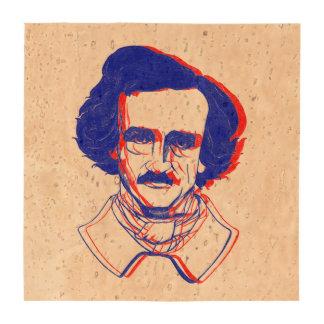 Edgar Allan Poe in 3D Drink Coasters