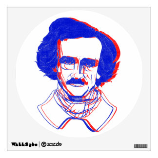 Edgar Allan Poe in 3D Wall Decal