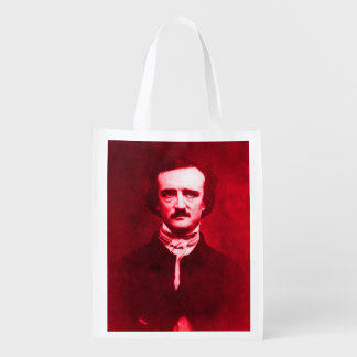 Edgar Allan Poe in Red Grocery Bag