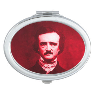 Edgar Allan Poe in Red Mirror For Makeup