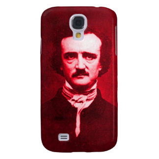 Edgar Allan Poe in Red Samsung S4 Case