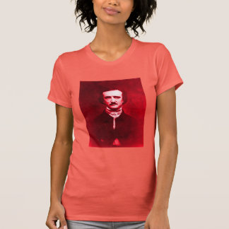 Edgar Allan Poe in Red T-Shirt