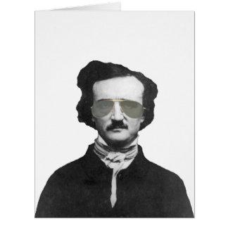 Edgar Allan Poe in Sunglasses Card