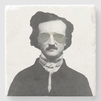 Edgar Allan Poe in Sunglasses Stone Coaster