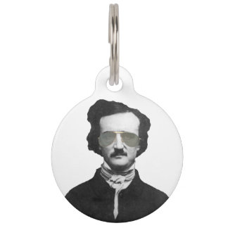 Edgar Allan Poe in Sunglasses Personalized Pet Tag