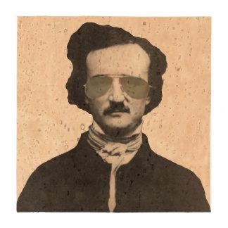 Edgar Allan Poe in Sunglasses Beverage Coasters