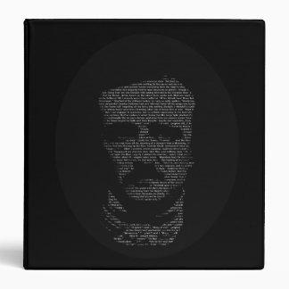 "Edgar Allan Poe in ""The Raven"" Text 3 Ring Binder"