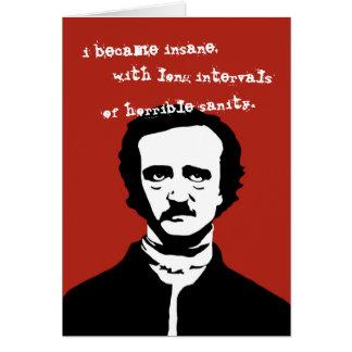 Edgar Allan Poe Insane Quote Silhouette Card