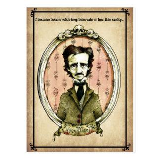 Edgar Allan Poe Insanity Postcard