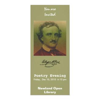 """Edgar Allan Poe Invitación 4"""" X 9.25"""""""