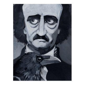 Edgar Allan Poe la postal del cuervo