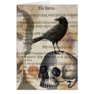 Edgar Allan Poe la tarjeta de felicitación del cue