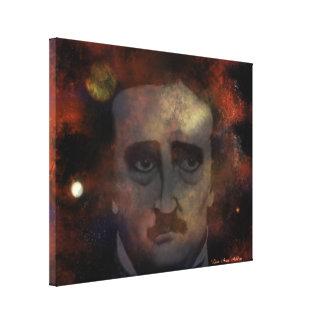 Edgar Allan Poe Lienzo Envuelto Para Galerias