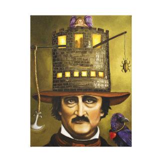 Edgar Allan Poe Lona Envuelta Para Galerias