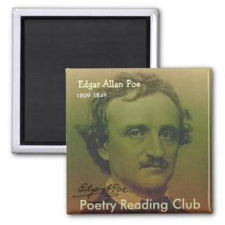 Edgar Allan Poe 2 Inch Square Magnet
