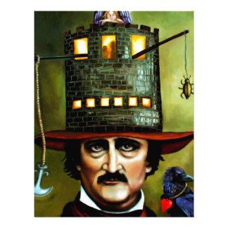 Edgar Allan Poe Membrete A Diseño