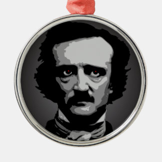 Edgar Allan Poe Metal Ornament