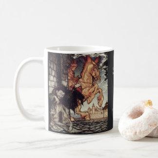 Edgar Allan Poe Metzengerstein painting by Rackham Coffee Mug