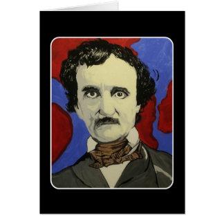 'Edgar Allan Poe' on a Blank Greeting Card