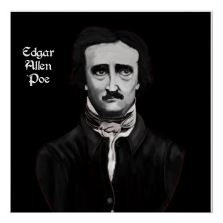 Edgar Allan Poe On Canvas Poster
