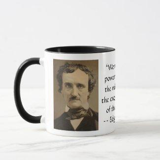 Edgar Allan Poe on the Power of Words Mug