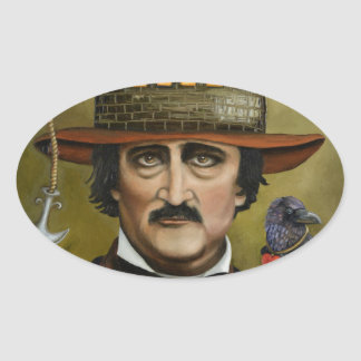 Edgar Allan Poe Oval Sticker