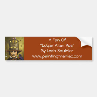 Edgar Allan Poe Pegatina Para Auto