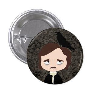 Edgar Allan Poe Pin Redondo De 1 Pulgada
