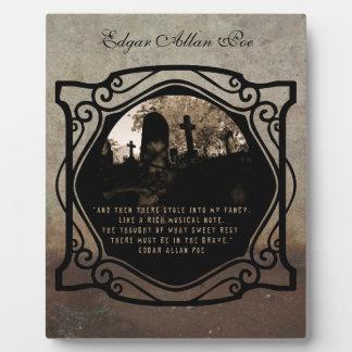 Edgar Allan Poe Placas