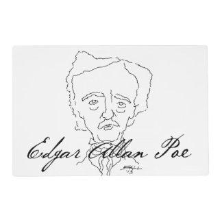 Edgar Allan Poe Placemat Tapete Individual