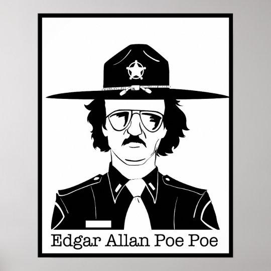 Edgar Allan Poe Poe (Black on White) Poster