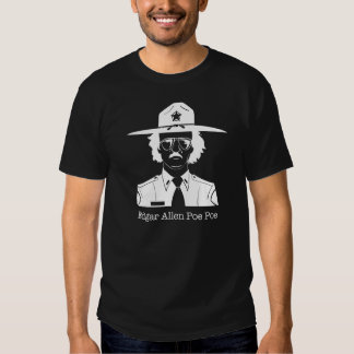 Edgar Allan Poe Poe (White on Dark) Tshirts