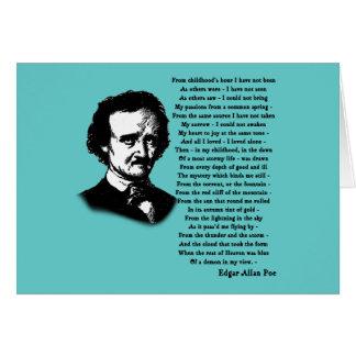 Edgar Allan Poe Poem ALONE Card