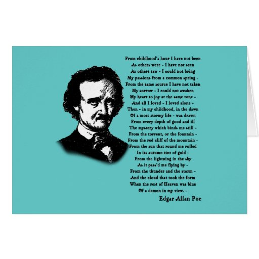 "a discussion on the morality in the poetry by edgar allan poe Edgar allan poe warning: for all of poetry: the philosophy of composition ""spirits of the dead"" ""the city in the sea what is the ""moral"" of."