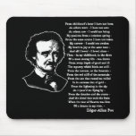Edgar Allan Poe Poem ALONE Mousepads