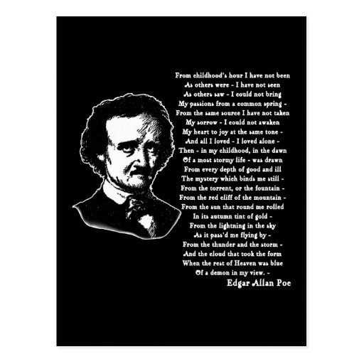 edgar allan poe alcoholism essay Edgar allan poe was noted for his gothic horror style of writing nevertheless he also used his writing to express political sentiments.