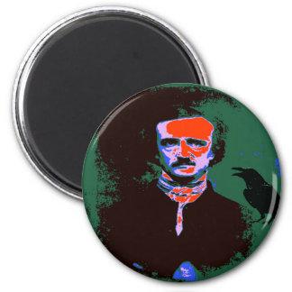 Edgar Allan Poe Pop Art 1 2 Inch Round Magnet