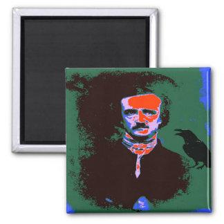 Edgar Allan Poe Pop Art 1 2 Inch Square Magnet