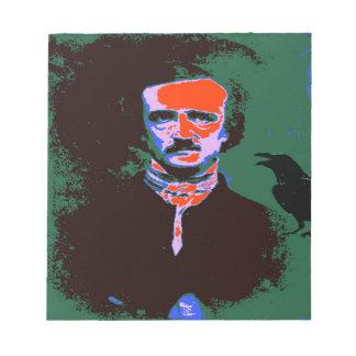 Edgar Allan Poe Pop Art 1 Notepad