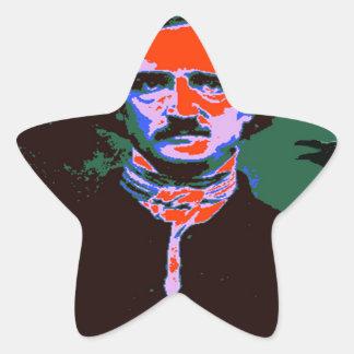 Edgar Allan Poe Pop Art 1 Star Sticker